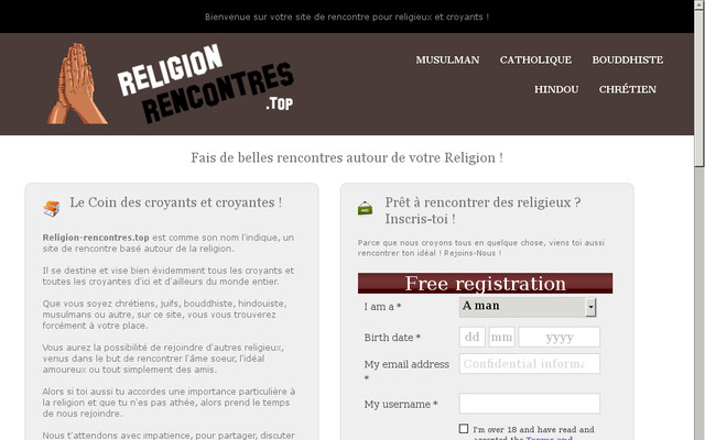 Site de rencontre chretienne catholique
